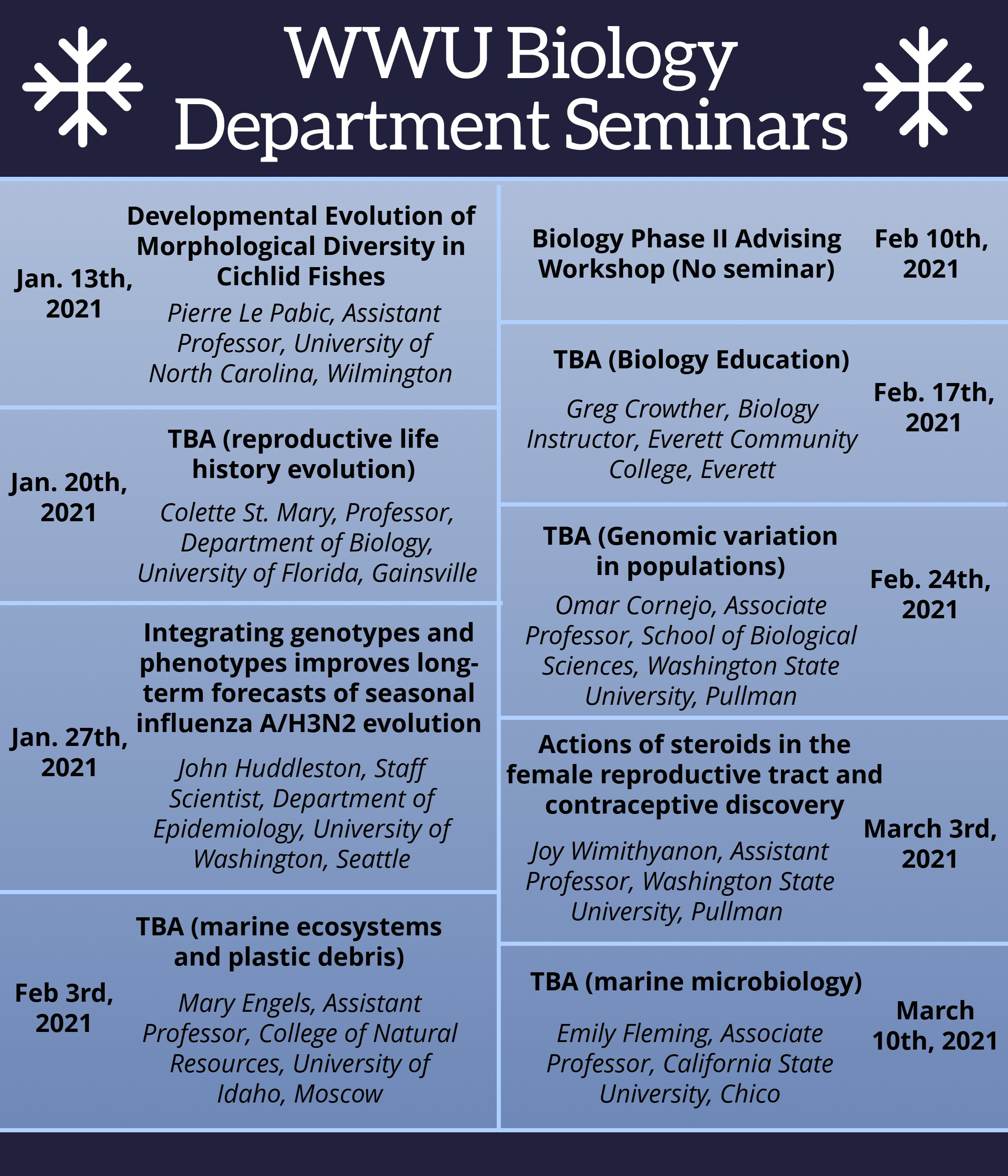 List of winter q seminars