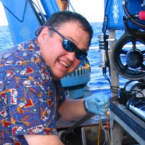 Craig Moyer while working at sea using ROV Jason